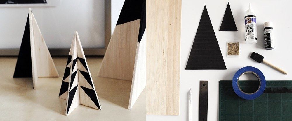 10 Super Simple Modern DIY Christmas Decorations Homeli