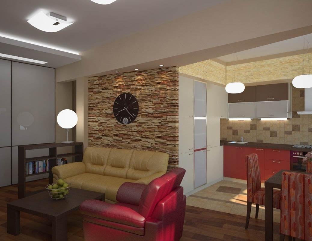 дизайн кухни студии совмещенной с гостиной 18 кв 3