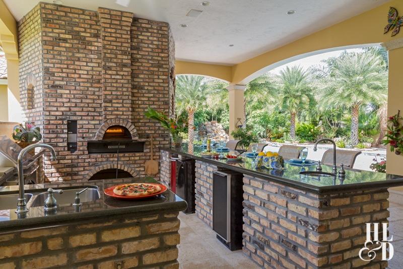Outdoor pizza kitchen jill shevlin interior design vero beach fl
