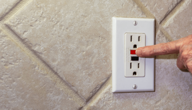 An outlet that was replaced in a home.
