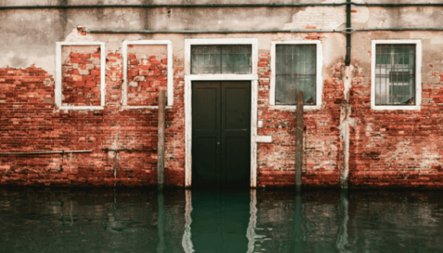 A house that has flooded and will be flipped.