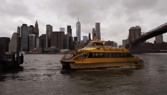 A ferry in the Bronx, where you can buy a house.