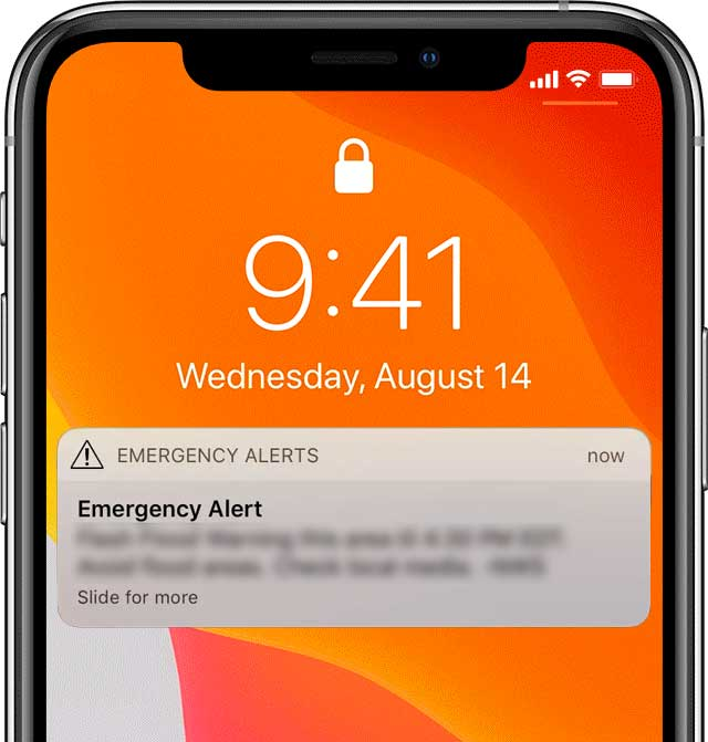 An image of a phone alert system to demonstrate a home emergency evacuation plan.