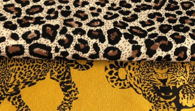Leopard print that fits the tropical modern decor.