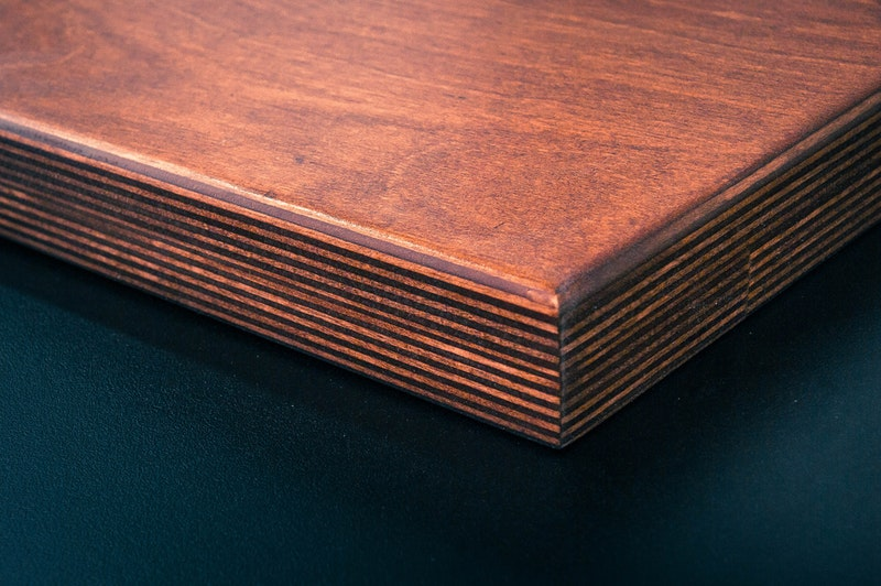 Layering in a wooden block
