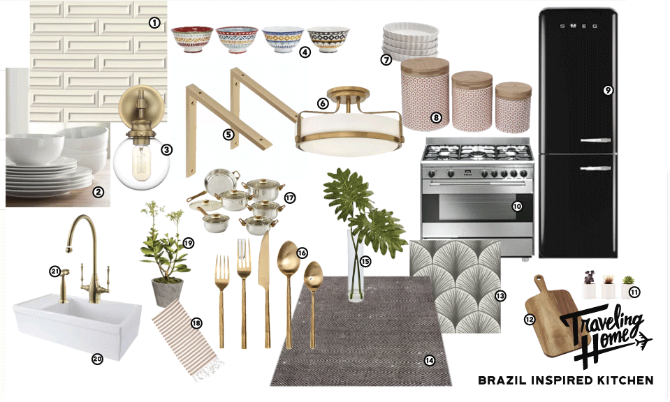 Shop Traveling Home Episode 1: Brazil Inspired Kitchen