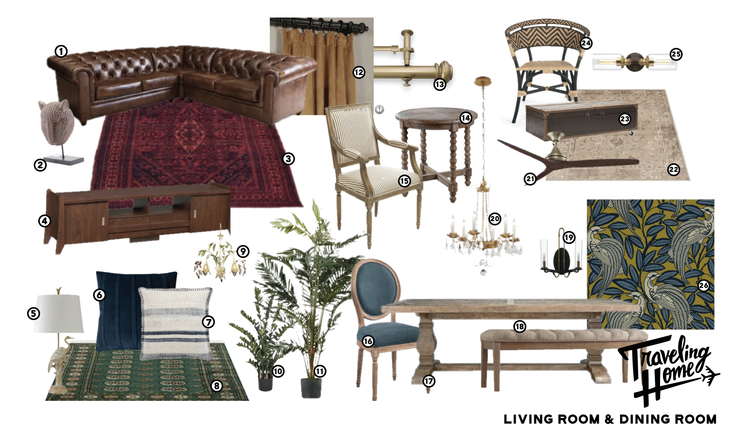 Shop Traveling Home Episode 8: Living and Dining Room