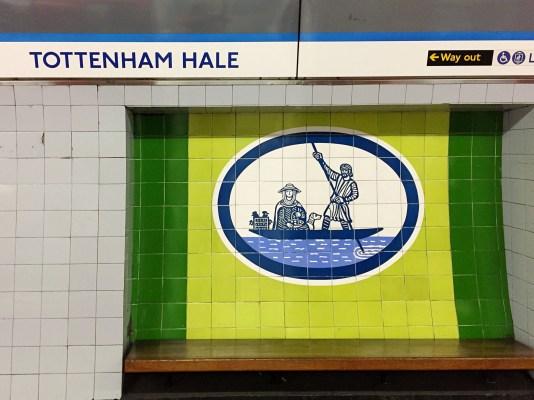 Tottenham Hale tiles by Edward Bawden