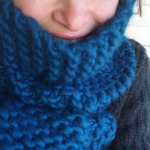 Crazy Sexy Wool scarf in Sherpa Blue