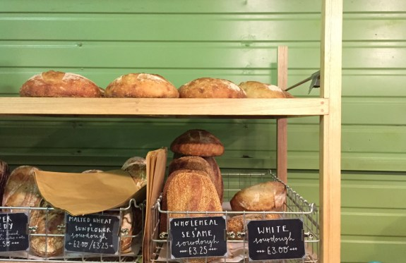 Freshly baked Sourdough loaves at Hart's Bakery