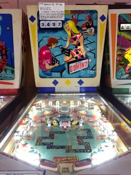 Gottlieb's Domino Game, 1968, the Pinball Hall of Fame, Las Vegas
