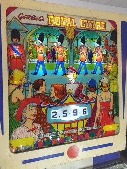 Gottlieb's Royal Guard game at the Pinball Hall of Fame, Las Vegas Mid century design