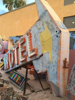 Motel Arrow at The Neon Boneyard Neon Museum Las Vegas