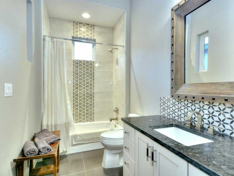Bathroom with Geometric Tile