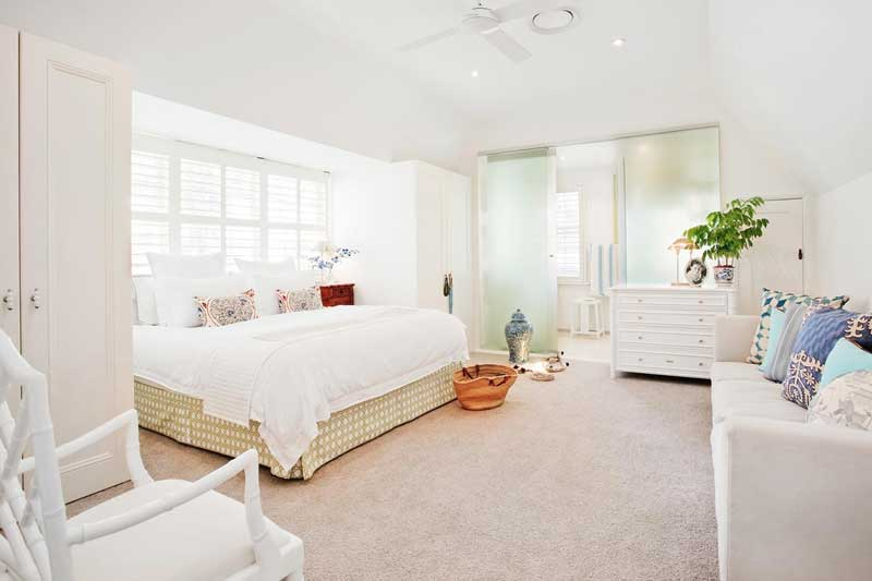Bedroom with White Linens & Furnishings