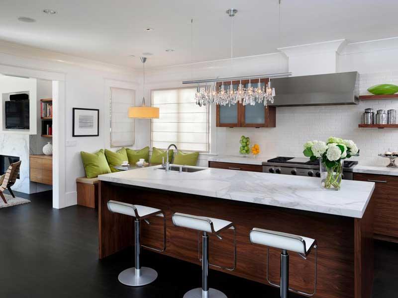 Kitchen with Dark Wood Flooring