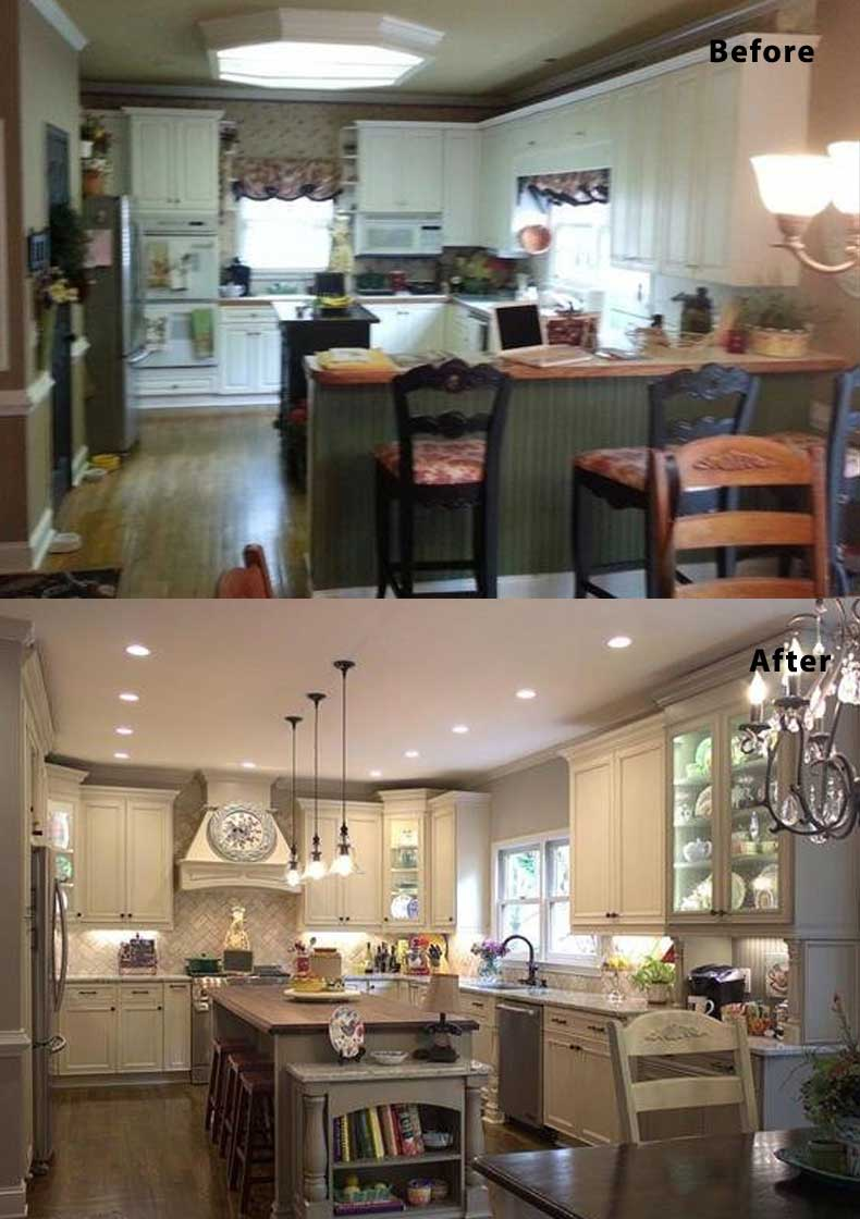Kitchen remodel ideas before and after 16