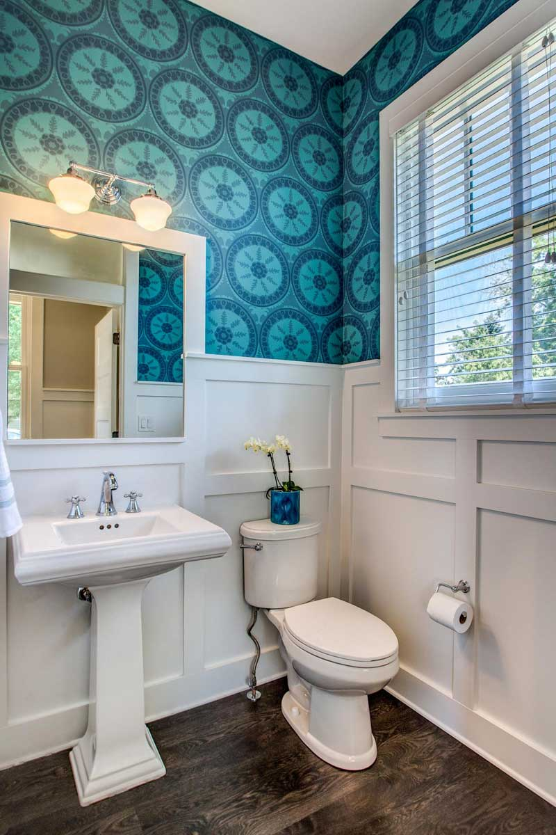 Blue Patterned Wallpaper