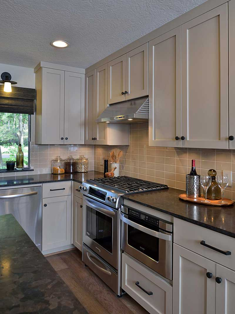 43 Kitchen Countertops Design Ideas (Granite, Marble ... on Dark Granite Countertops With Dark Cabinets  id=44698