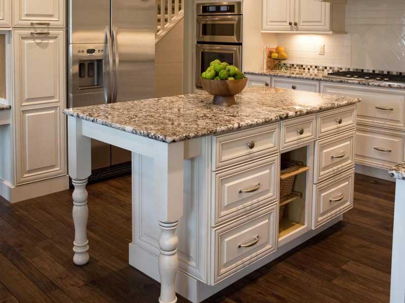 Granite Countertops with Marble Backsplash