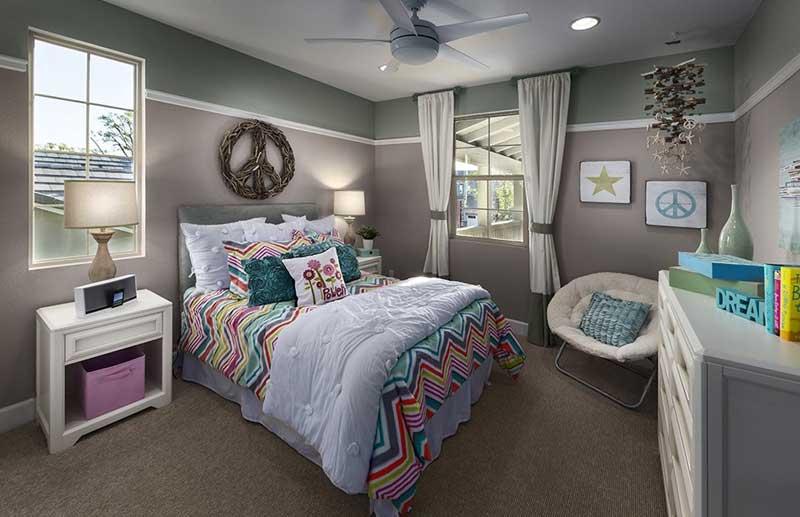 Gray Teenage Girl Bedroom
