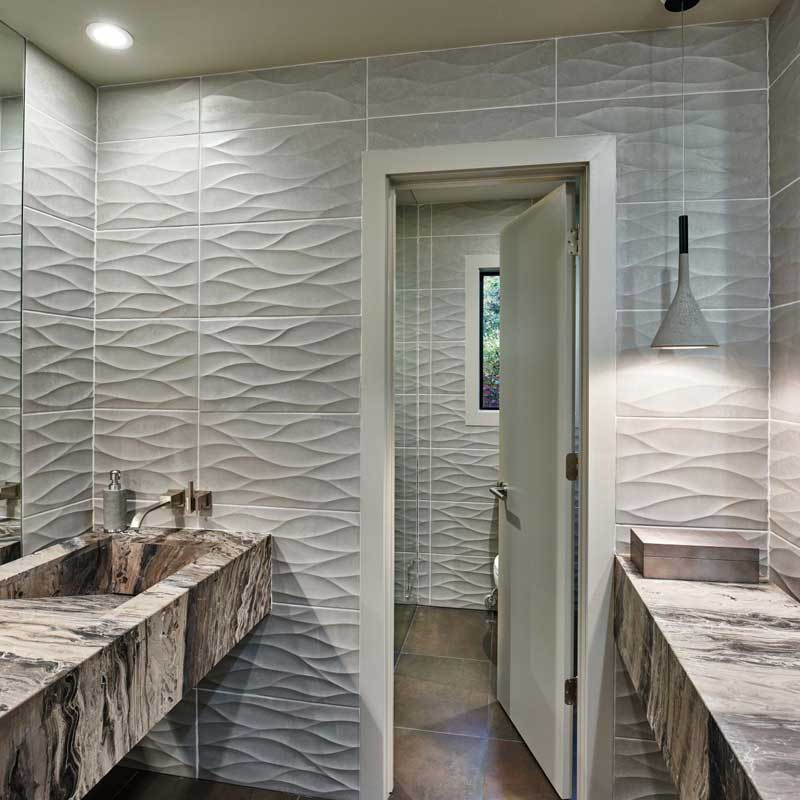 Gray Wavy Pattern Wall