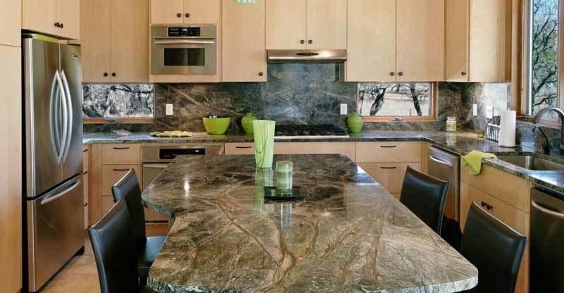 Green Granite Countertops Home Kitchen