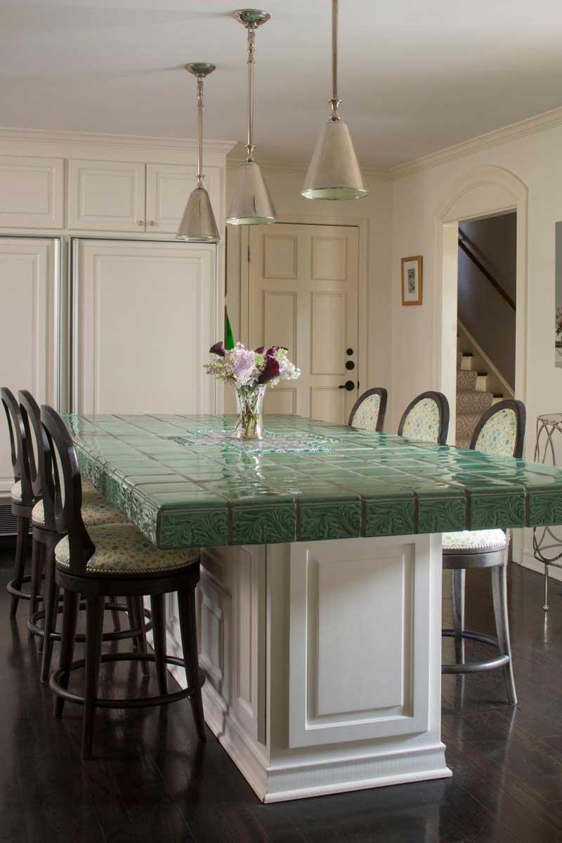 Green Tile Countertop