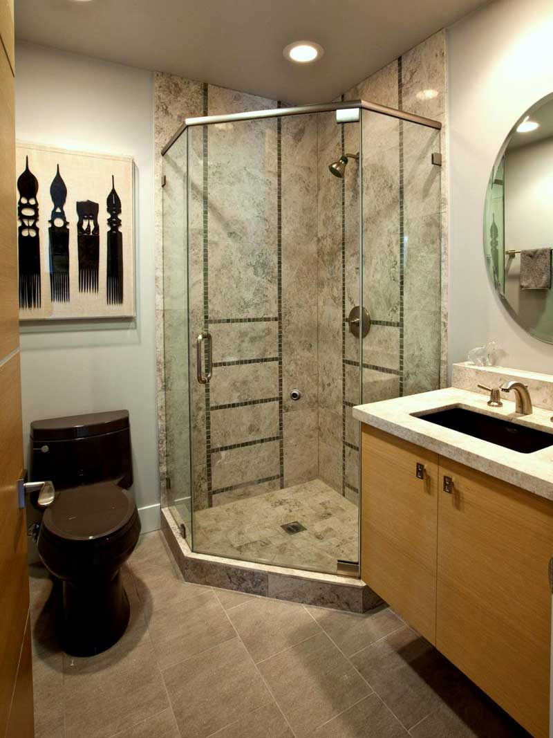 Bathroom with Stone Tile Shower