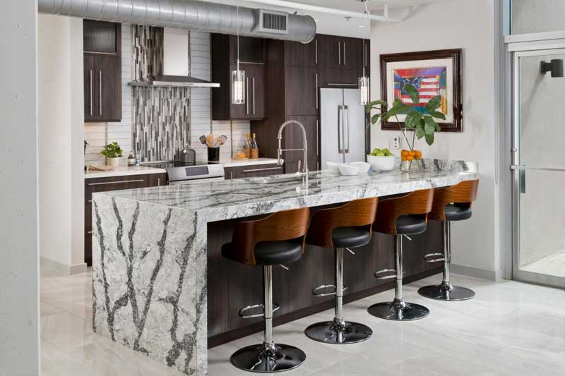 Thick Gray Marble Countertop