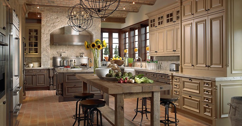 island lighting ideas. kitchen island with orb chandelier lighting ideas