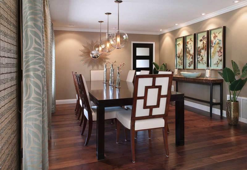 image lighting ideas dining room. Dining Room With Bubble Glass Art Pendant Lighting Image Ideas