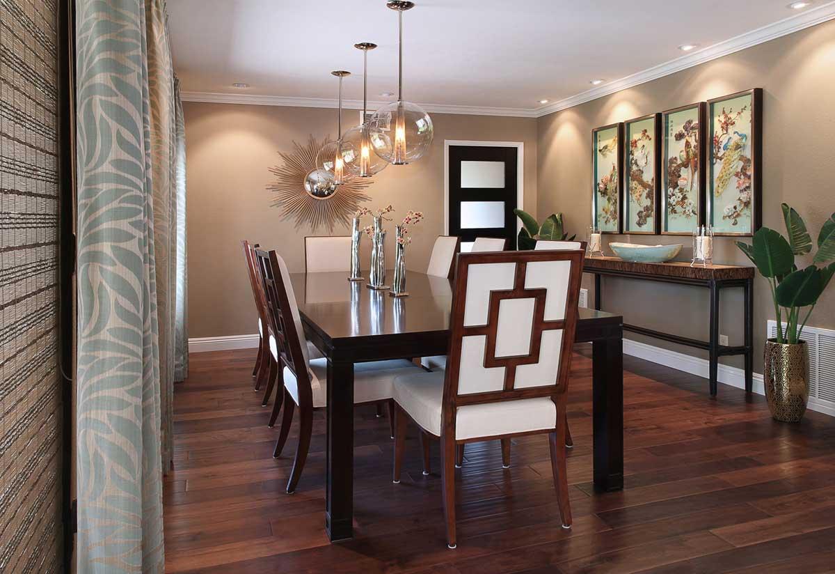 dining room with bubble glass art pendant lighting & 100 Dining Room Lighting Ideas - HOMELUF