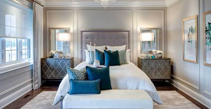 100 bedroom lighting ideas to add sparkle to your bedroom homeluf small master bedroom with drum crystal chandelier home aloadofball Images