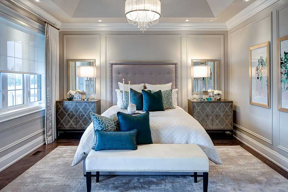 Delightful Small Master Bedroom With Drum Crystal Chandelier. Home · Lighting. 100 Bedroom  Lighting Ideas ...