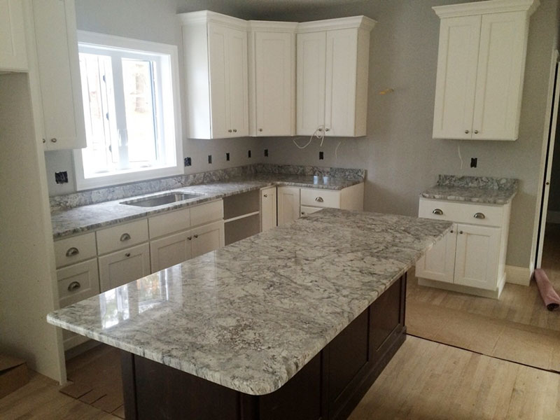 Top 25 Best White Granite Colors for Kitchen Countertops on Maple Cabinets With White Granite Countertops  id=71740
