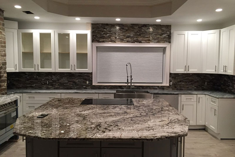 Tiger Skin White Granite Kitchen Countertop