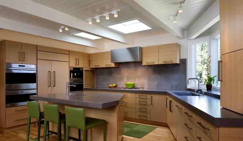 kitchen with track lighting fixtures