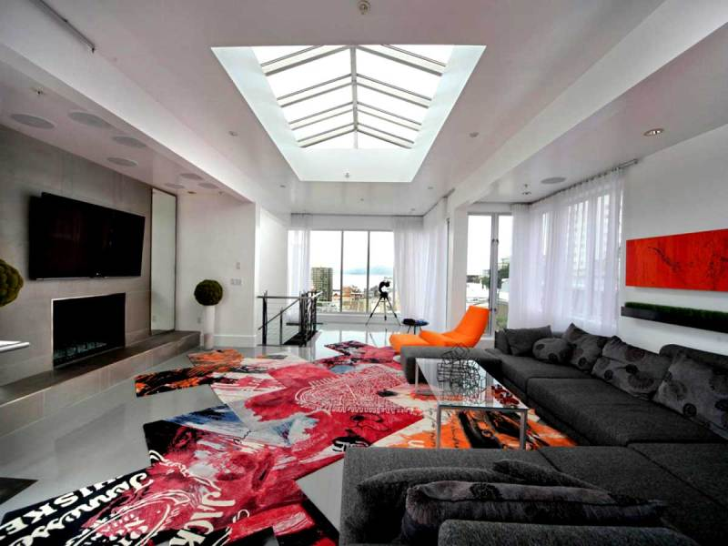living room skylight ideas
