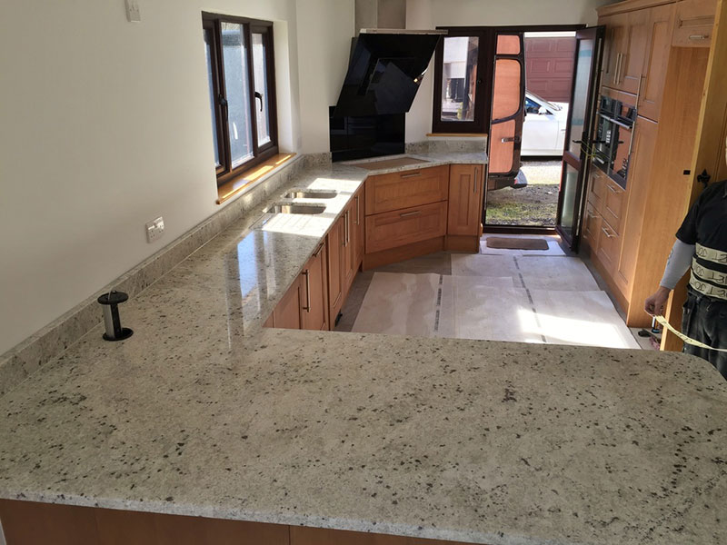 Colonial white granite worktop