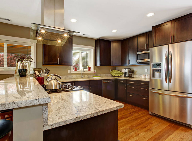 Kashmir White Granite Countertops (Pictures, Cost, Pros ... on Dark Granite Countertops With Dark Cabinets  id=69419