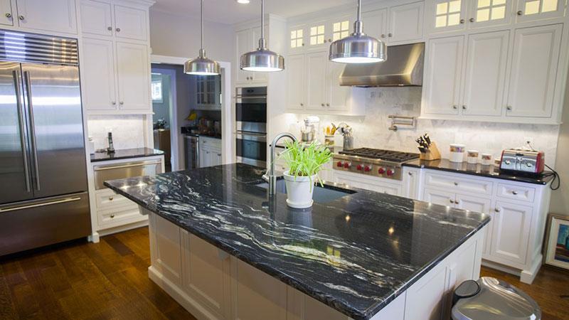 Cosmic black granite countertops