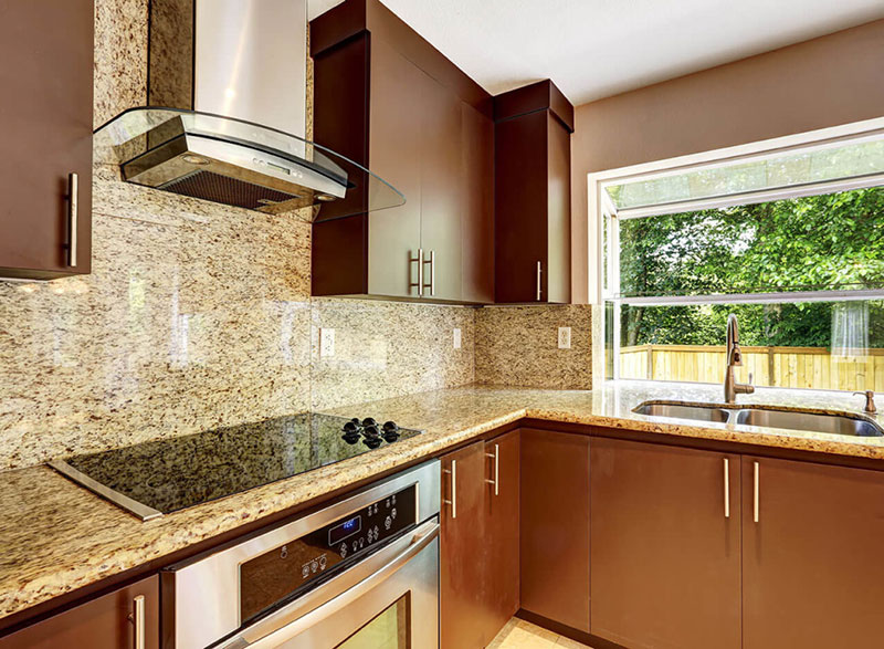 Giallo Ornamental Granite Backsplash