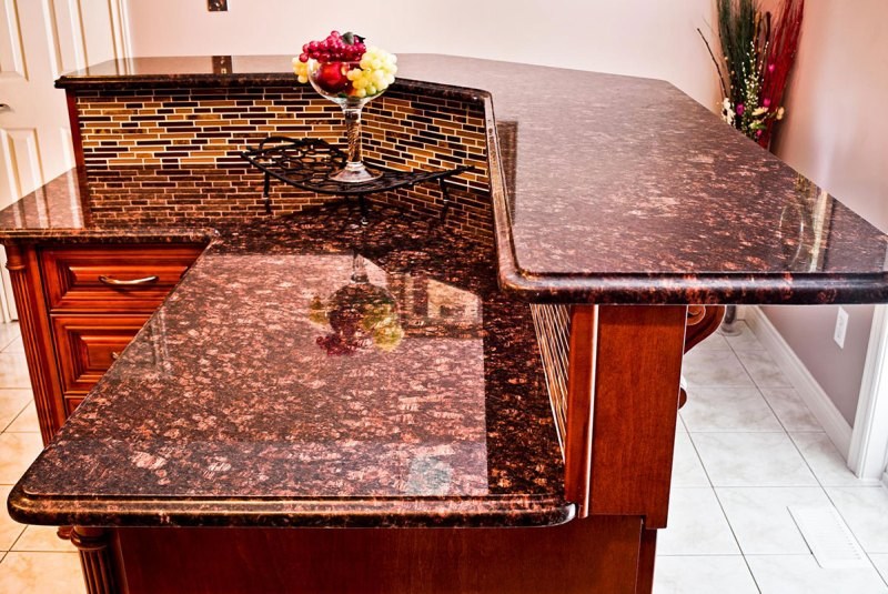 Granite countertops colors tan brown