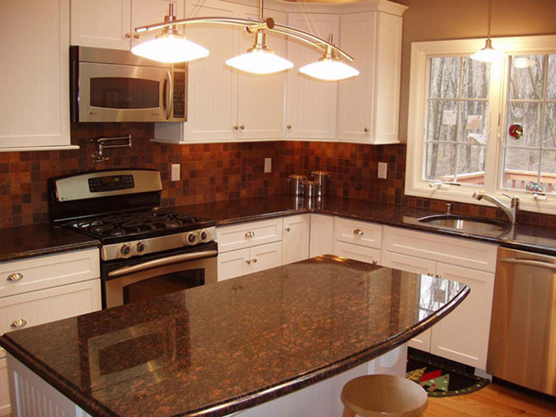 Tan Brown Granite Countertops (Pictures, Cost, Pros and Cons) on What Color Cabinets Go Best With Black Granite Countertops  id=22423
