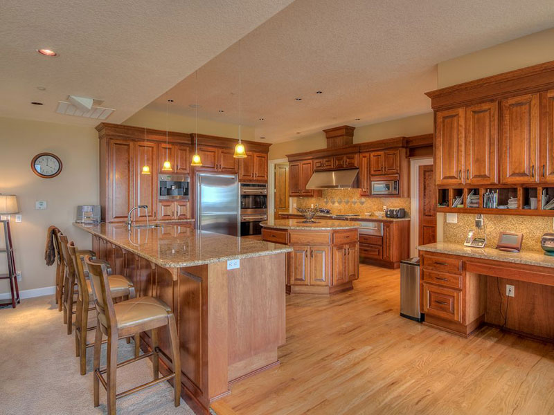 New venetian gold granite with light maple cabinets