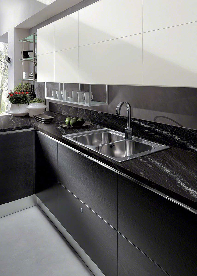 Best Black Granite Countertops (Pictures, Cost, Pros & Cons) on Dark Granite Countertops With Dark Cabinets  id=93378