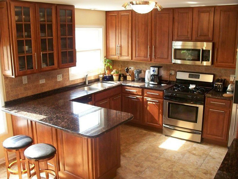 Tan Brown Granite Countertops (Pictures, Cost, Pros and Cons) on Black Granite Countertops With Brown Cabinets  id=92120