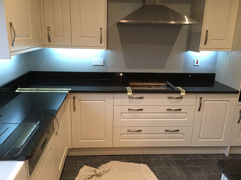 Image Result For White Kitchen Cabinets With Black Countertops