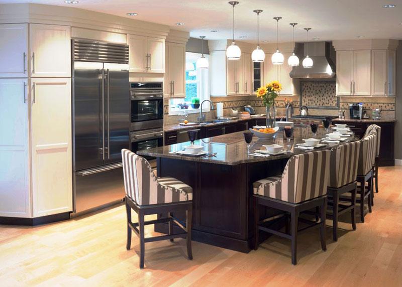 Black pearl granite and white cabinets
